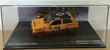 RENAULT 5 ALPINE RALLYE MONTE CARLO 1978-RAGNOTTI-IXO CAR COLLECTION 1/43 R5