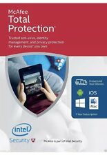 McAfee Total Protection 2017, 1 Year License, 1 Devices, Email Delivery