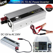 Inversor de potencia de 1500w Convertidor de onda sinusoidal modificada CC a 12v de CA 230V Convertidor USB