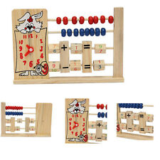 Clock Wooden Beads Abacus Counting Number Math Calculating Educational Kid Toy