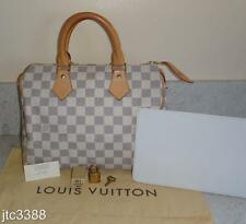 BONUS + GUC Louis Vuitton Damier Azur Speedy 25 Handheld Bag $950+TAX