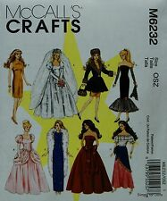 "McCall's 6232 DOLL CLOTHES Sewing PATTERN for 11-1/2"" BARBIE DOLLS in 8 Designs"