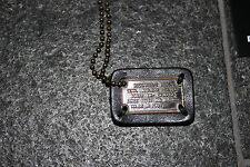 DSQUARED2 F/W 2014 ARMY DOG TAG NECKLACE GOLDEN KETTE jeans HALSKETTE goldfarben