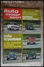 AMS Auto Motor Sport 12/69 BMW 2002 Schnitzer Ami 8 Peugeot 504