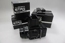*NIB* FULL OUTFIT Bronica ETR Si body w/ PE 75mm F/2.8, Waist Finder E, 120 Back
