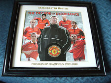 MANCHESTER UNITED - THE DECADE OF DOMINANCE 1990-2000 - COIN IN ART PRINT - COA