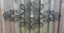 Iron Metal Wall Decor, distressed flower, wall art, Shabby & Chic, Garden Art
