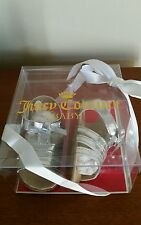 New JUICY COUTURE BABY GIRL silver metallic shoes  Sz (2)  3-6 mos. $58 NIB