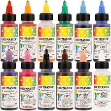Chefmaster Airbrush Food Coloring Set - 12 Popular Colors in 2 fl. oz. Bottles
