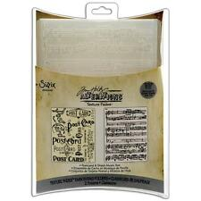 Sizzix Embossing Folders Postcard & Sheet Music Tim Holtz        453158