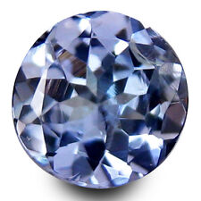 0.59 Ct Natural Blue TANZANITE Stone Round Facet for Jewelry Setting