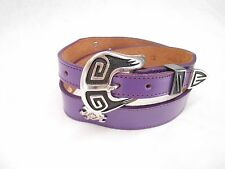 Mens Nocona Vintage Purple Handcrafted Embellished Leather Belt 26 NWOT #81