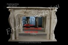 CARVED FRENCH STYLE HAND CARVED ESTATE  MARBLE FIREPLACE MANTEL MBF047