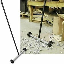 Strong Magnetic Sweeper Pick-Up Tool- 55 lbs pull- Super Strong- Magnet roller