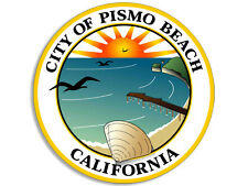 4x4 inch ROUND City of Pismo Beach Seal Sticker - decal logo insignia california