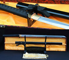 FOLDED STEEL BLADE SWORD JAPANESE SAMURIA NINJA MATACH KATANA SHARP FULL TANG