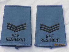 GB-Rangschlaufen:  Sergeant, Royal Air Force,oliv, RAF, Luftwaffe, blau