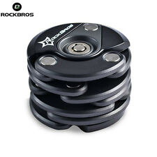RockBros Anti Theft Lock Bicycle Motorcycle Folding Chain Collapsable Lock Black