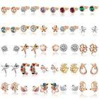 New Fashion Women Lady Elegant Crystal Rhinestone Ear Stud Earrings Ear Clip
