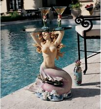 Mermaid Sculptural Table with Glass Top 23.5""