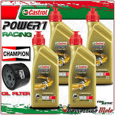 KIT TAGLIANDO OLIO CASTROL POWER 1 RACING 5w40 + FILTO CHAMPION BMW K1300 R 2011