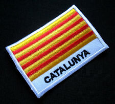CATALONIA Cataluña CATALAN BARCELONA FLAG SEW ON PATCH Free Postage