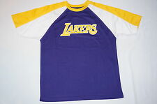 NWT MAJESTIC NBA basketball LAKERS T shirt BOY youth size XL (16-20?) purple
