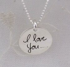 Sterling Silver I Love You message Pendant necklace Jewelry NEW