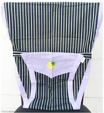 New Portable Baby Chair/High Chair Harness, Blue- green Stripes