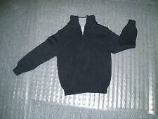 New SKYR Boys Pullover Zip Neck Sweather Size 5 Black