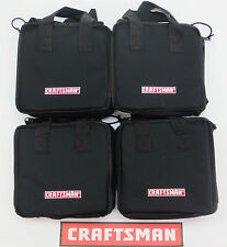 4 NEW CRAFTSMAN TOOL BAGS (11X9X6) CARRYING CASE HOLDER FOR DRILL IMPACT BATTERY