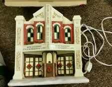 """ST NICHOLAS SQUARE VILLAGE COLLECTION """"HOLIDAY THEATER"""" ***ORG BOX***EX COND"""