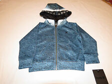 Boy's kids youth Hurley jacket hoodie coat 6 NEW surf Shark 881732 EEO teal