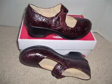 New ALEGRIA Wine Leather Mary Jane Wedge Sz 41 11 M $130