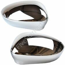 Fiat Punto EVO 09-on Chrome Door Wing Mirror Glass Covers New