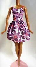 Barbie 2016 Fashionista Purple Floral Dress
