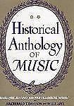 Historical Anthology of Music, Volume II, Baroque, Rococo, and Pre-Classical Mus