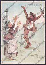 MUSATI 12 Illustratore BRIGATE GARIBALDI PARTIGIANI RESISTENZA Cartolina v. 1946