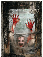 Halloween ZOMBIE window DECORATION Backdrop Banner WALKING DEAD Apocalypse