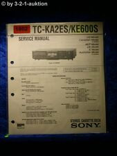 Sony Service Manual TC KA2ES / KE600S Cassette Deck (#1802)