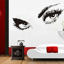 Sexy Eyes Wall Art sticker Vinyl Room Decal Decor Beauty Ladys Eyes Lashes Decal