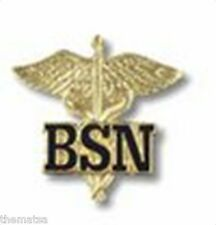 BSN BACHELORS OF SCIENCE NURSE MEDICAL UNIFORM COLLAR FIRE HEALTH BADGE PIN
