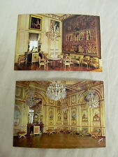 Two Authentic Color Photo Vintage Postcards from France Fontainebleau Unposted