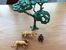 Playmobil Lions and Monkey with Tree