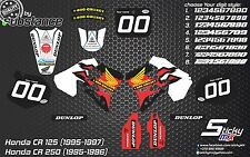Honda CR 125 95-97 CR 250 95-96 motocross graphic kit MX decals graphics 1996