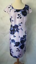 New Jacques Vert Dress Navy & Lilac size 20 floral Special Occasion