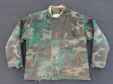 Vintage 80s Rare A-2 Camouflage Deck Jacket Size XL Woodland A2 A-1 USN USAF