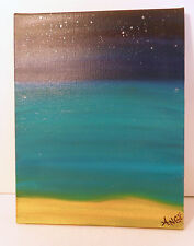 ORIGINAL OIL PAINTING ON CANVAS BY ANGE - CHARLOTTE NC - Best Roatan Night