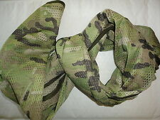MILITARY SCRIM NET TACTICAL SCARF  WOODLAND LIGHT CAMO 185cmx80cm I