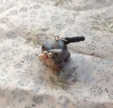 Silver Cat  Anti dust plug Handmade Cute Earphone Cap